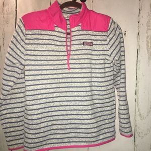 Vineyard Vines Girls Fleece Sweater Shep Shirt